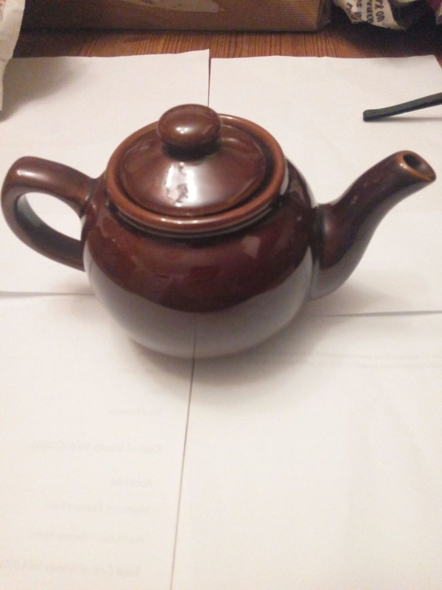 Marks and Spencer brown tea pot