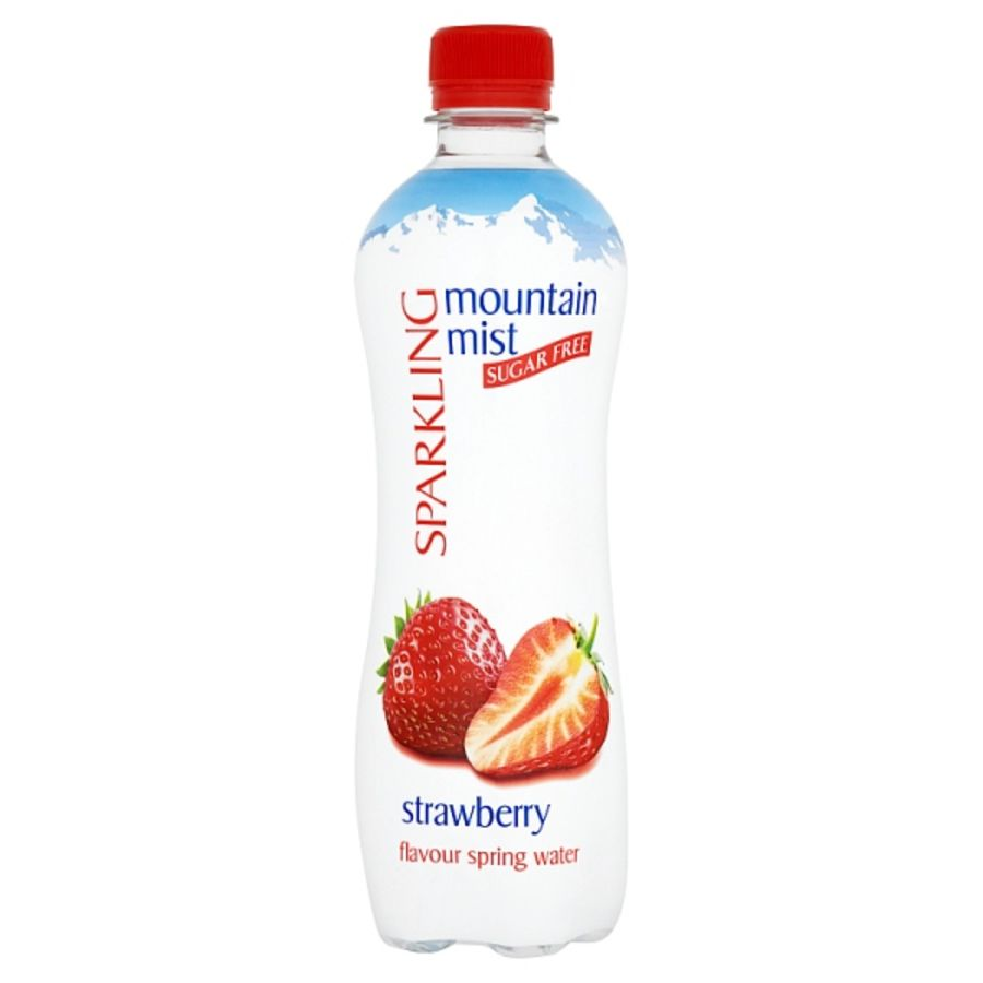 Mountain Mist Sparkling Sugar Free Strawberry Flavour Spring Water 500ml x 12
