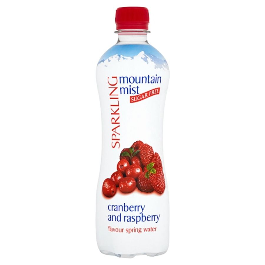 Mountain Mist Sparkling Sugar Free Cranberry and Raspberry Flavour Spring Water 500ml