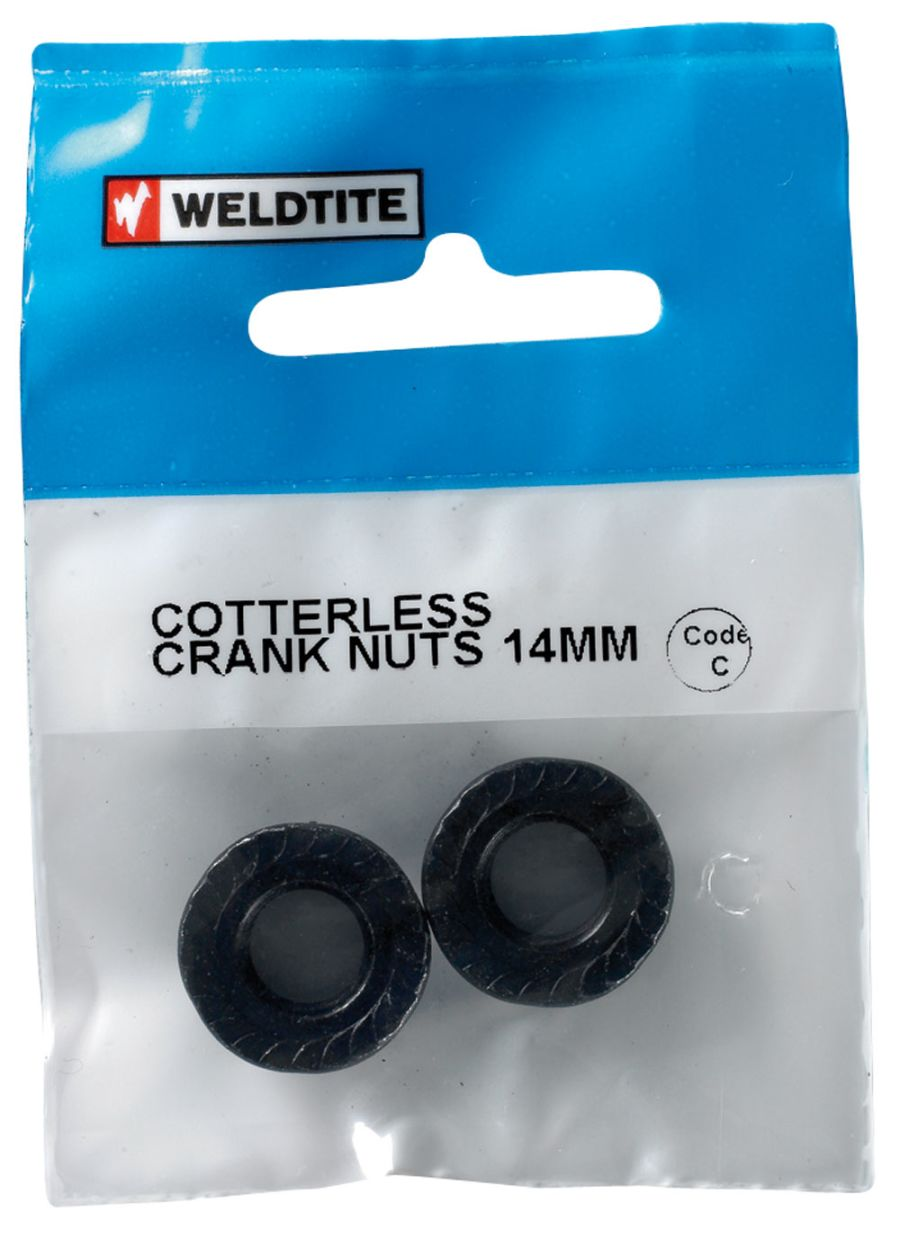 Weldtite Cotterless Crank Nuts 14mm