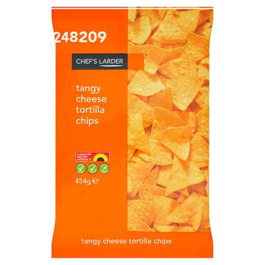 Chef's Larder Tangy Cheese Tortilla Chips 454g x 6