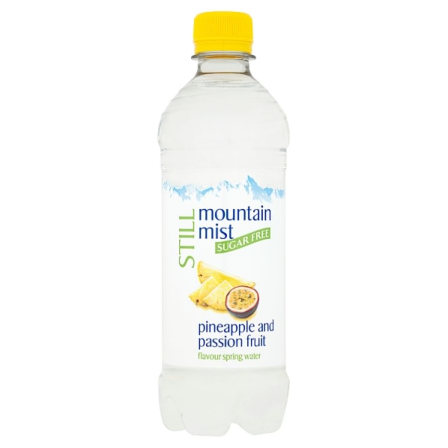 Mountain Mist Still Sugar Free Pineapple and Passion Fruit Flavour Spring Water 500ml x 24