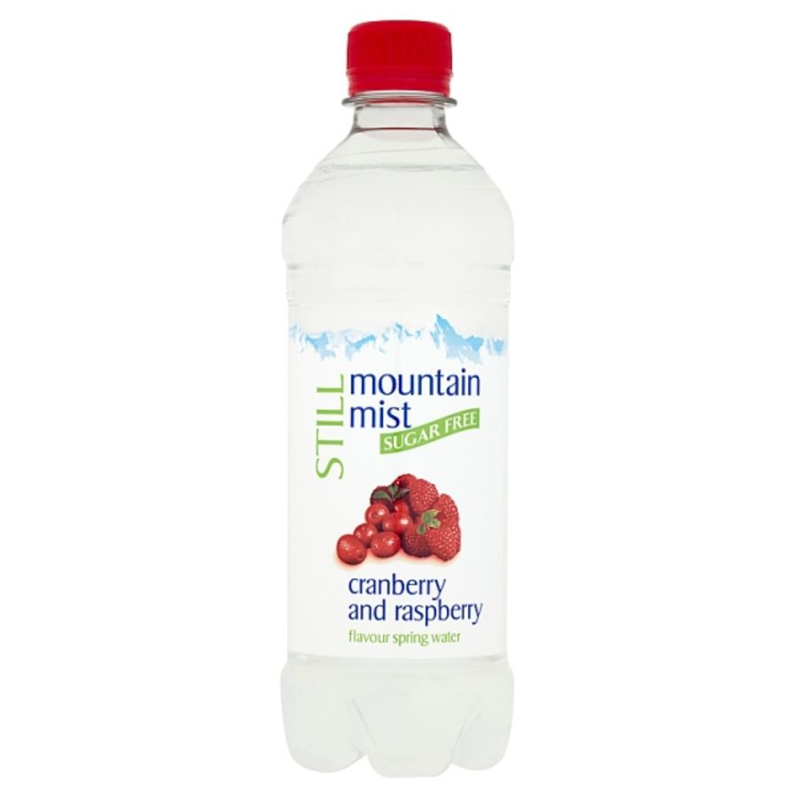 Mountain Mist Still Sugar Free Cranberry and Raspberry Flavour Spring Water 500ml x 24