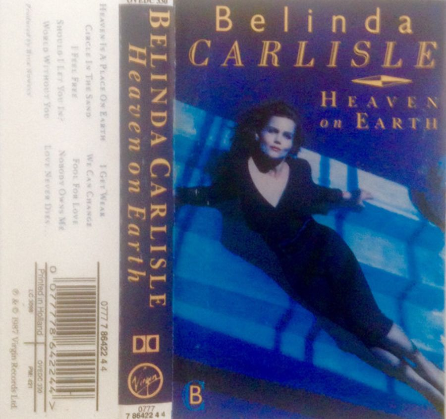 Belinda Carlisle ‎– Heaven On Earth cassette album