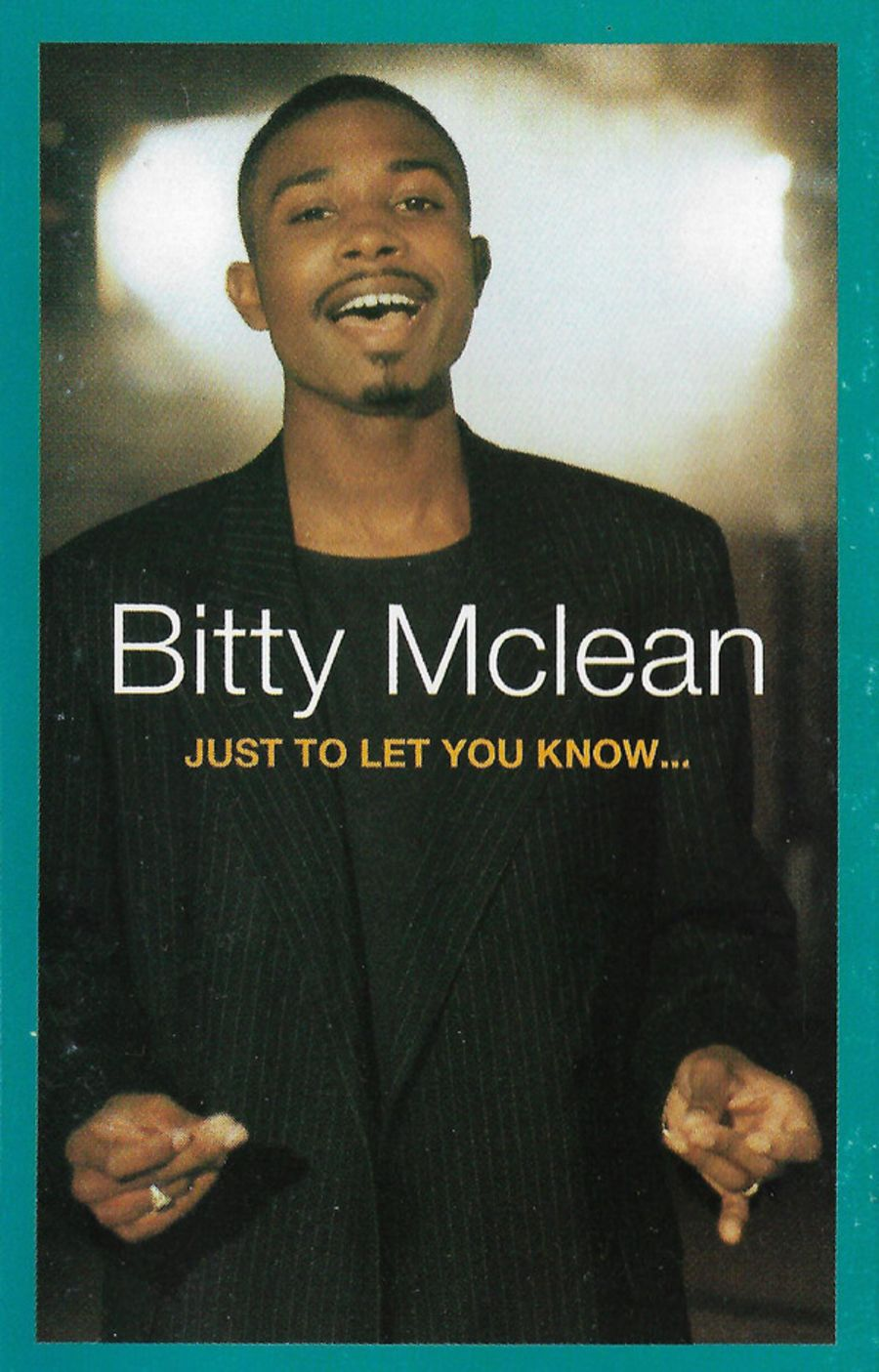Bitty Mclean ‎– Just To Let You Know... cassette album