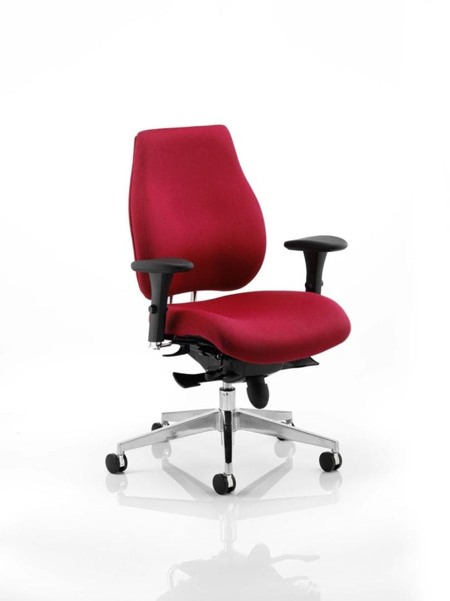 Chiro Plus Ergo Posture Chair Wine With Arms