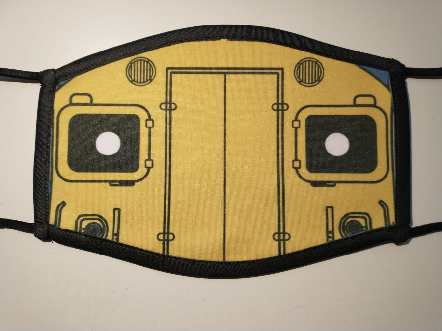 Class 37 Printed facemask