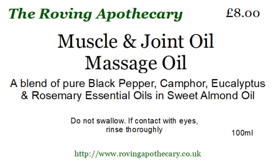 Muscle and Joint Massage Oil 100ml