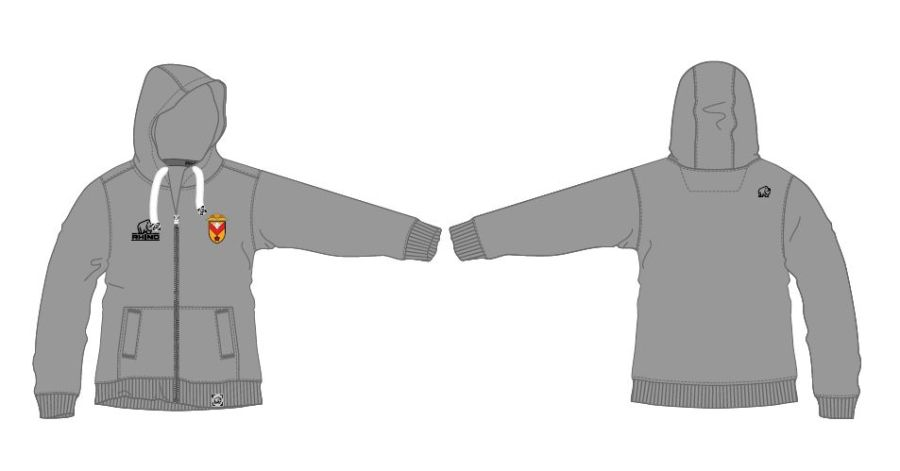 Full Zip Plain Grey Hoodie