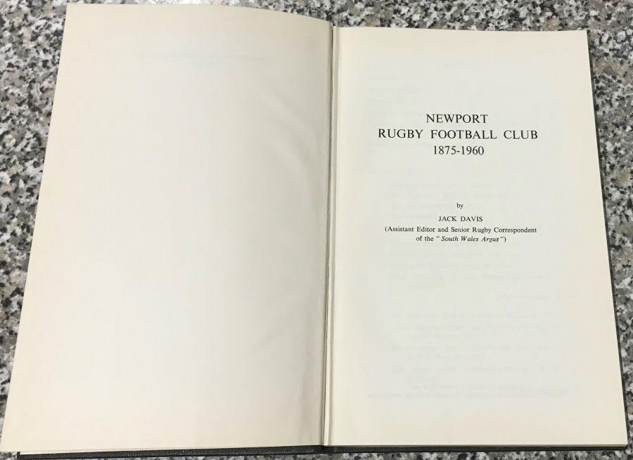 Book - Newport Rugby Football Club - 1875 - 1960