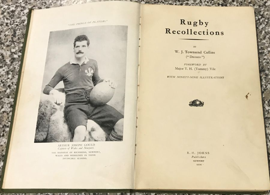 Book - Rugby Recollections - W J Townsend Collins