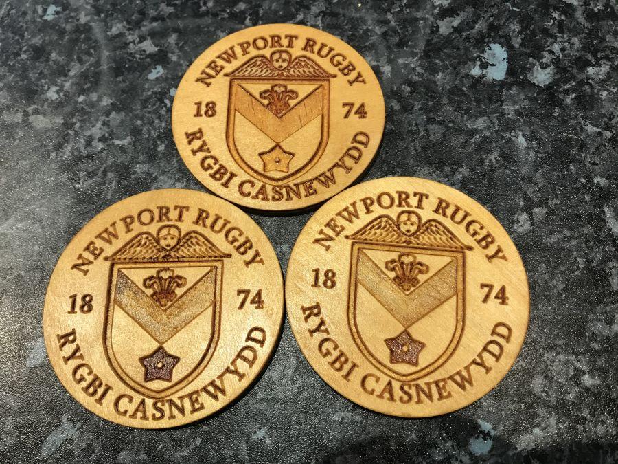 FoNR - Newport RFC Wooden Coaster