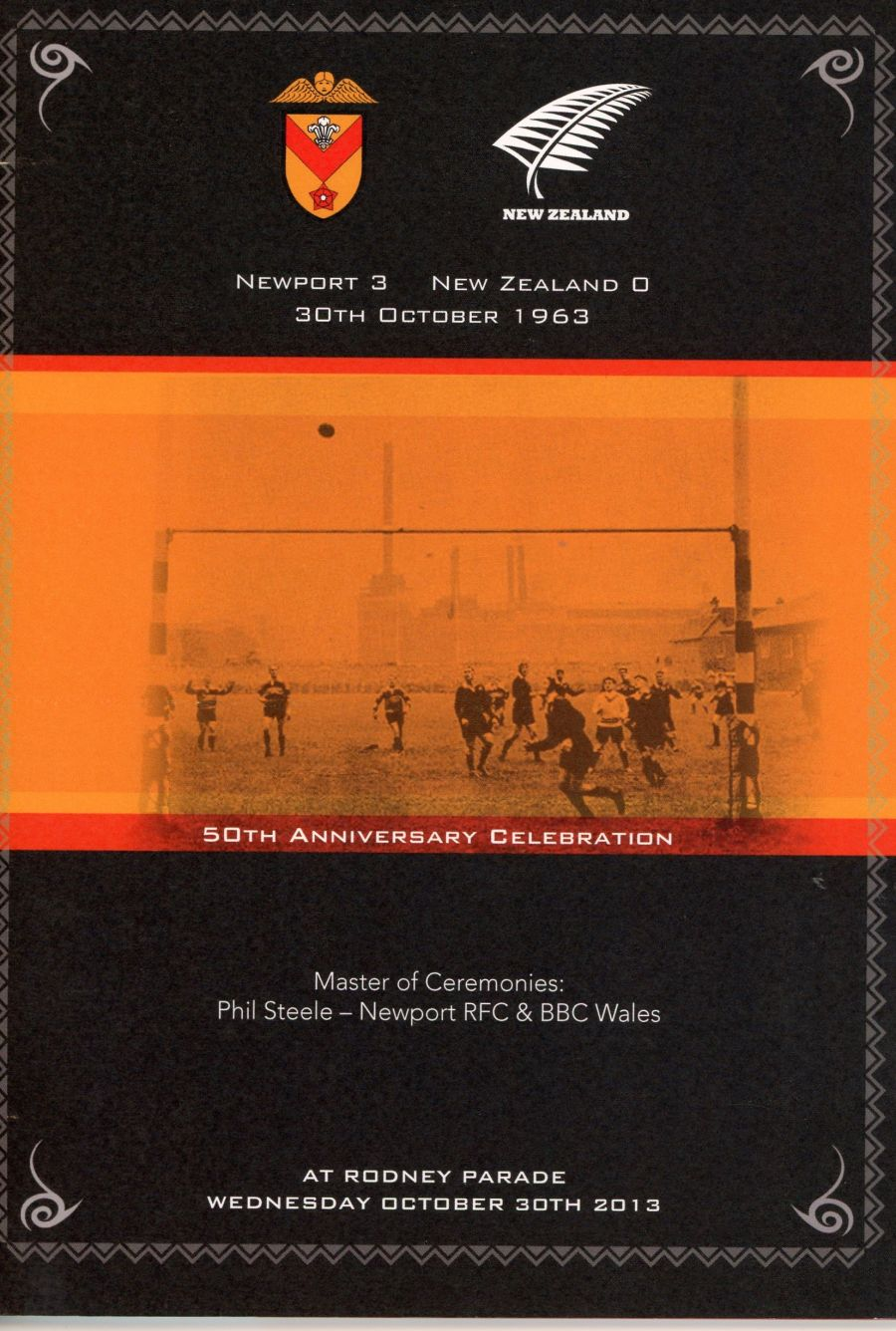 Booklet - Newport v New Zealand 1963 Golden Anniversary Dinner