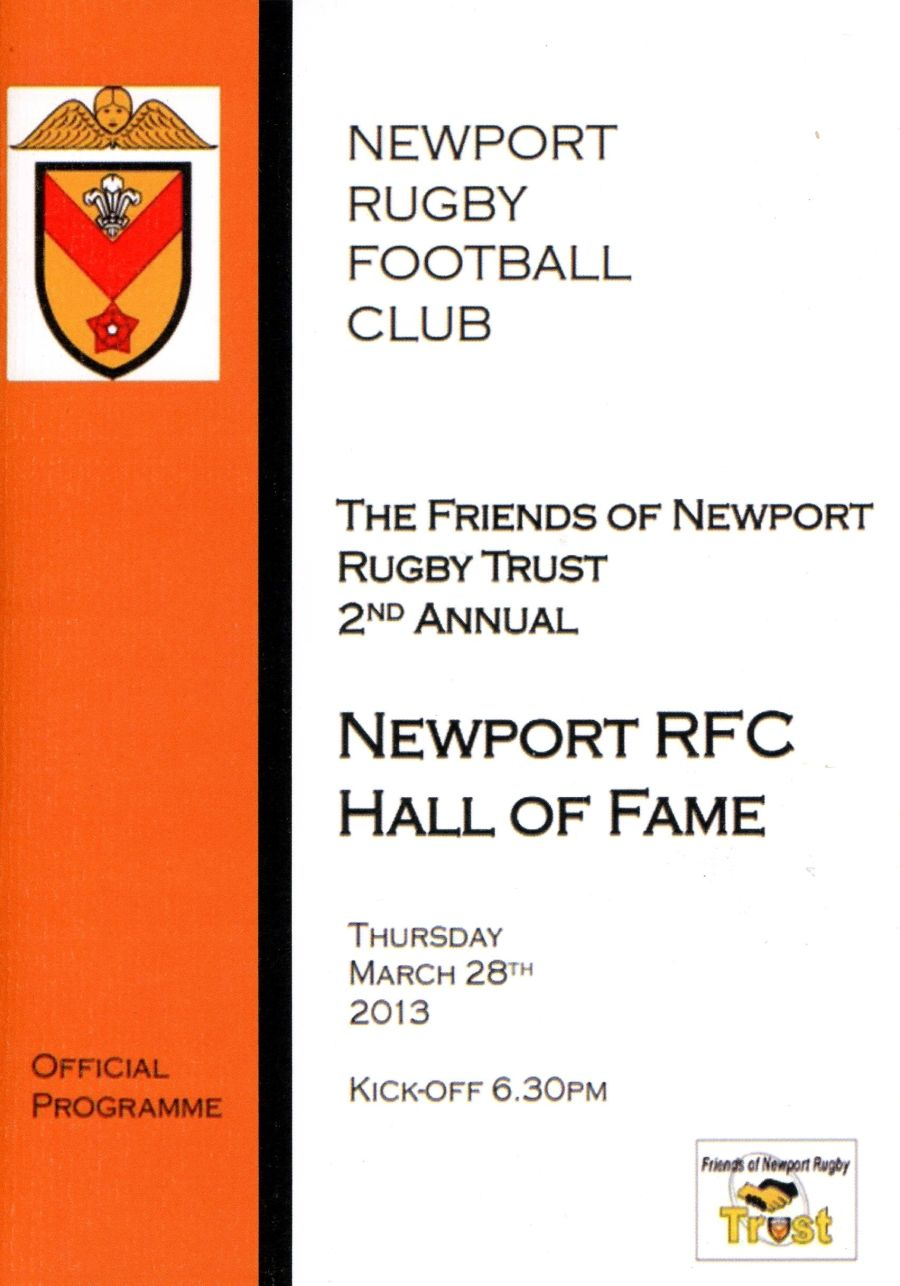Booklet - 2nd Newport RFC Hall of Fame - 2013