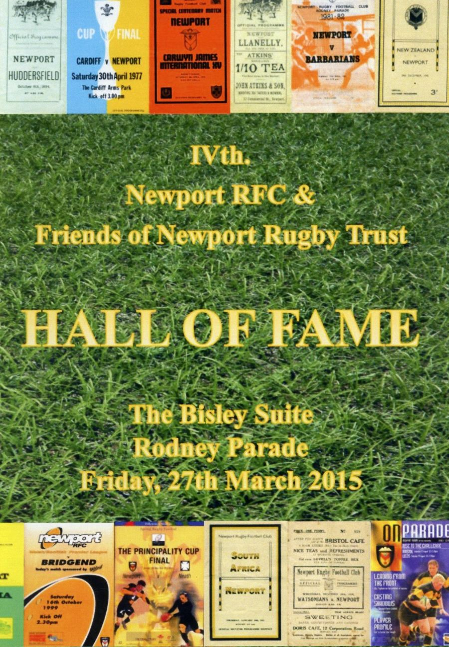 Booklet - 4th Newport RFC Hall of Fame - 2015