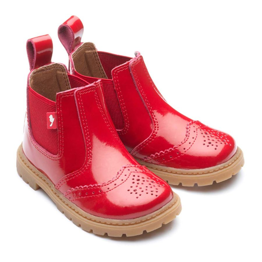 Red Chelsea Boots