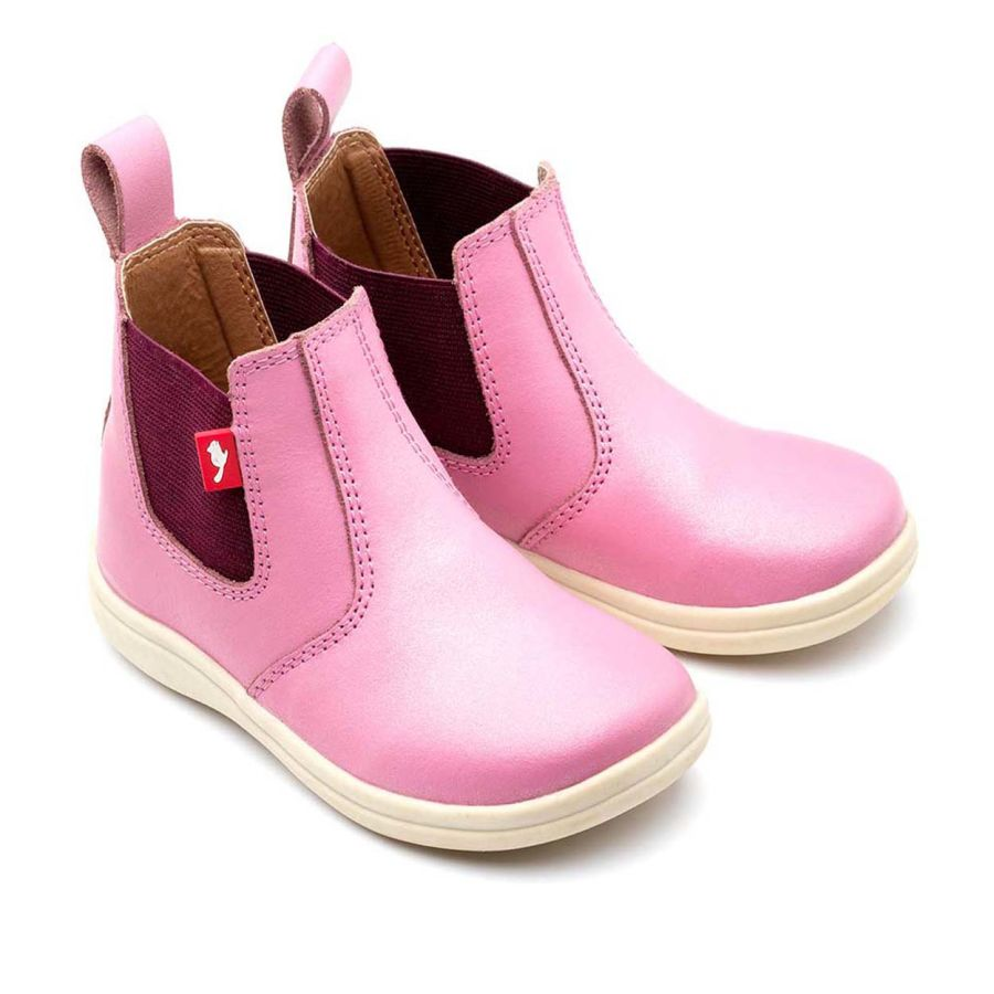 Pink Glitter Chelsea Boots