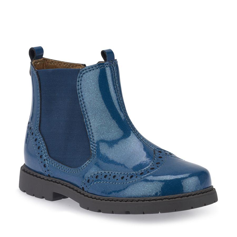 Chelsea Blue Patent Boots