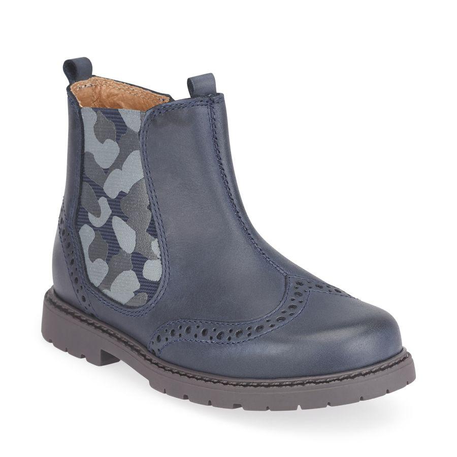 Chelsea Navy Camo Boots