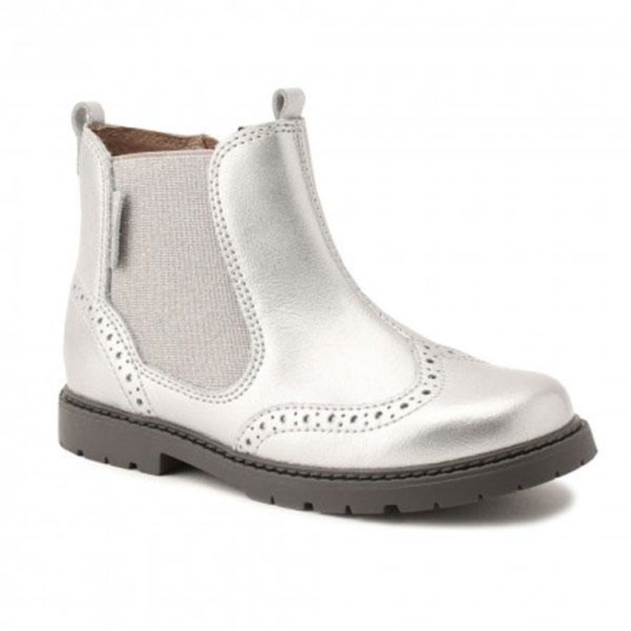 Chelsea Silver Patent Boots