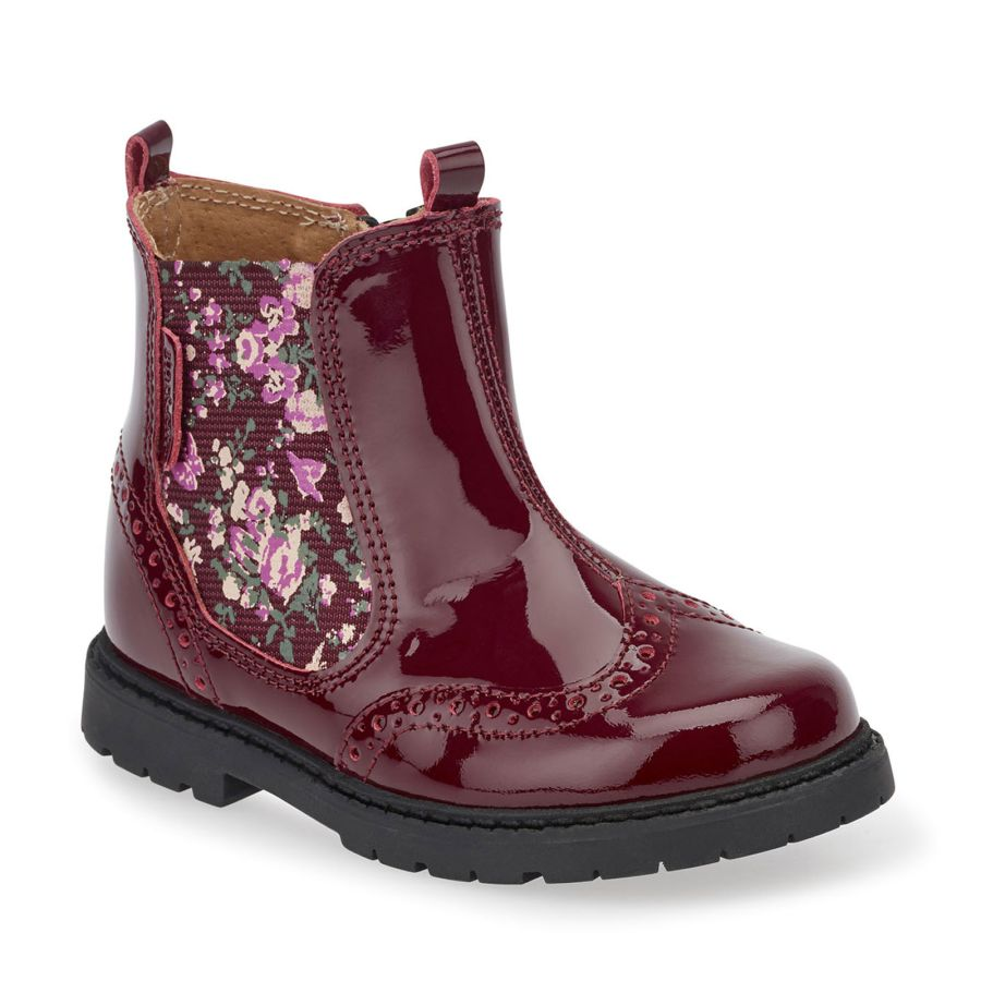 Chelsea Wine Floral Boots