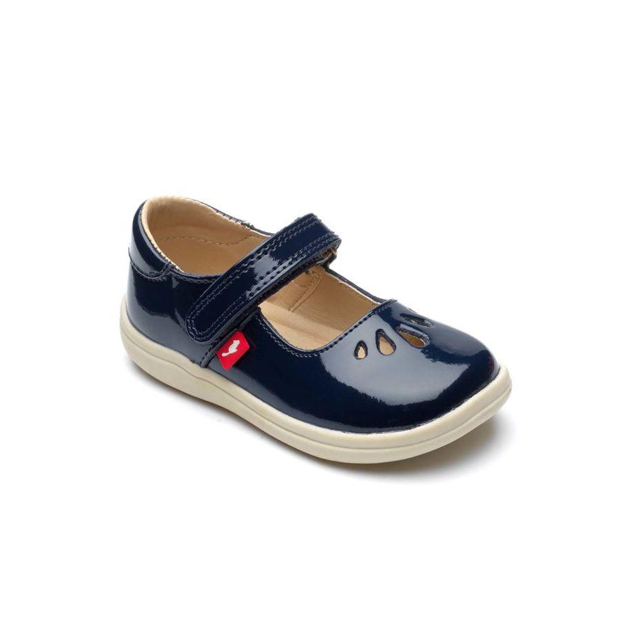 Elsa Navy Patent Shoes
