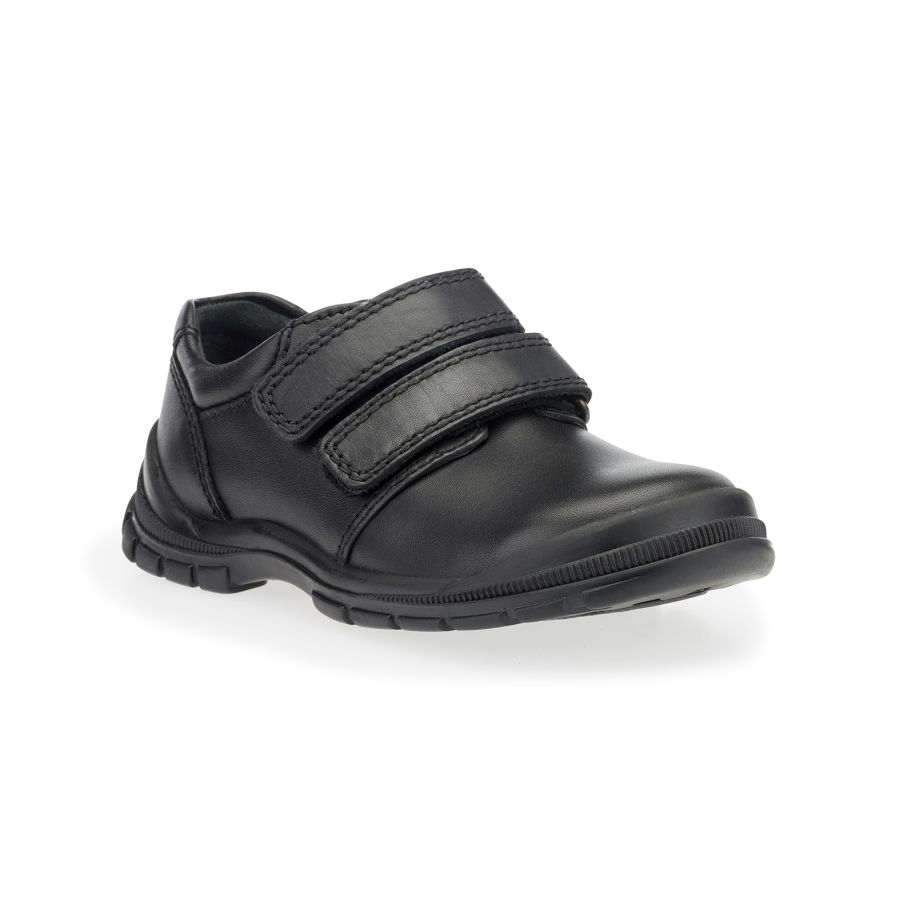Engineer Black Leather Shoes