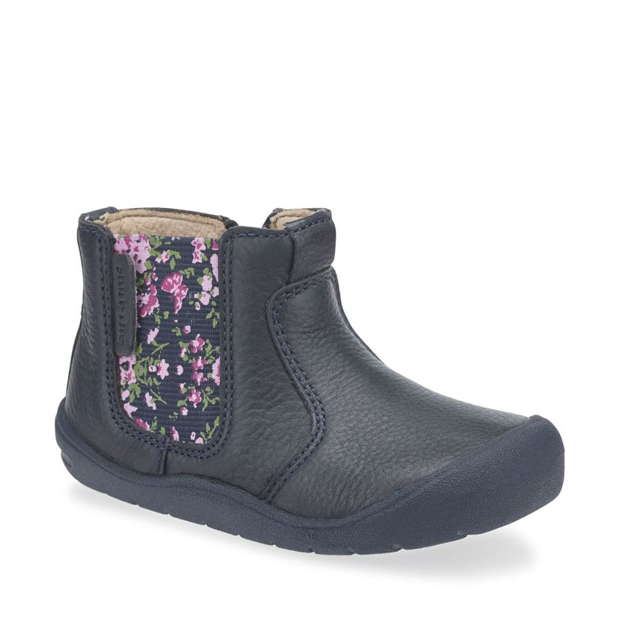 First Chelsea Navy Floral Boots