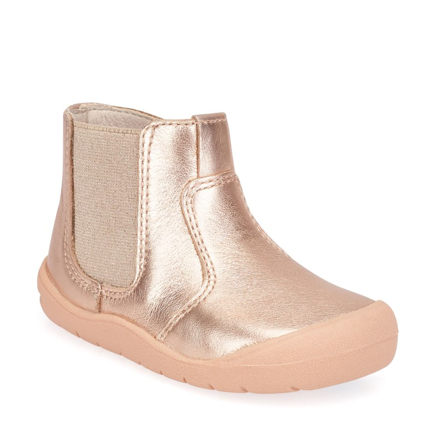 First Chelsea Rose Gold Boots