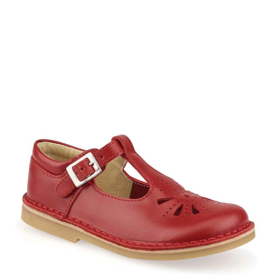 Lottie Red Leather Shoe