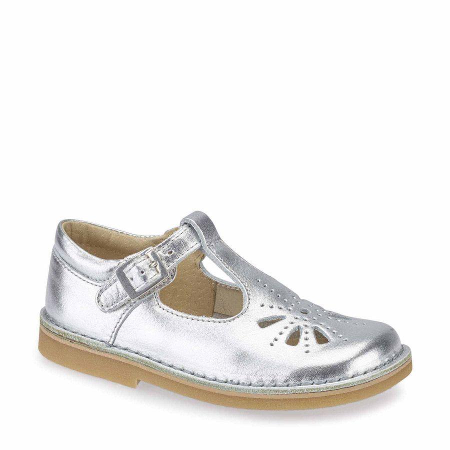 Lottie Silver Leather Shoe