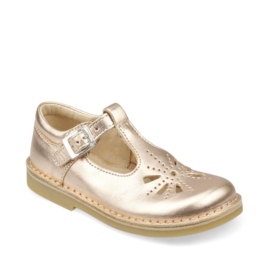 Lottie Rose Gold Leather Shoe