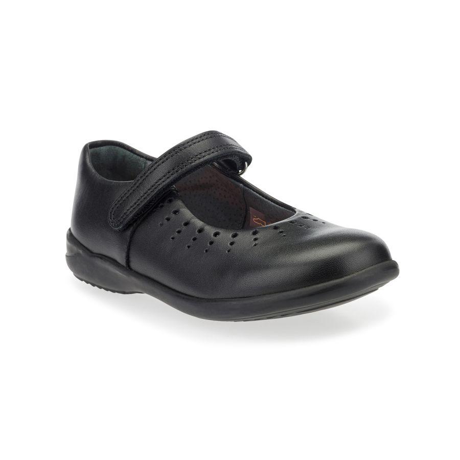 Mary Jane Black Leather