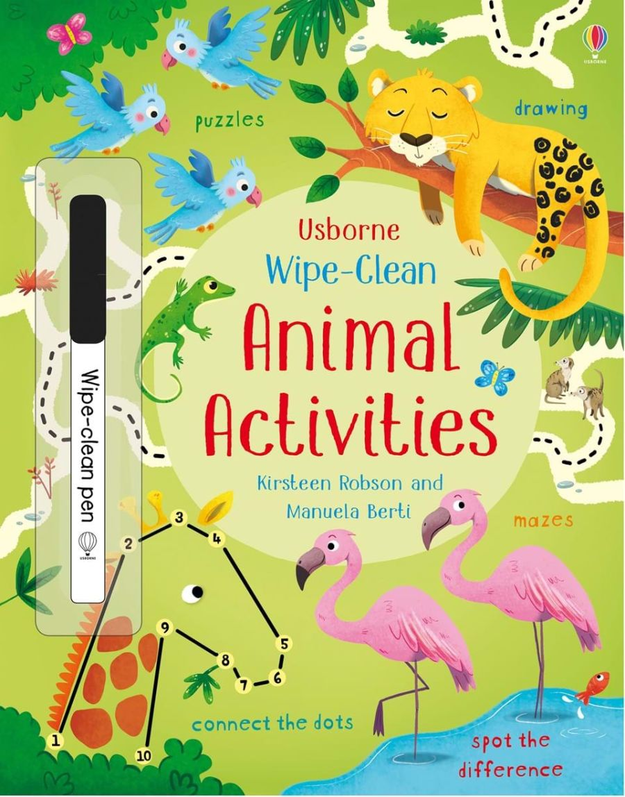 Wipe Clean Animal Activities Book
