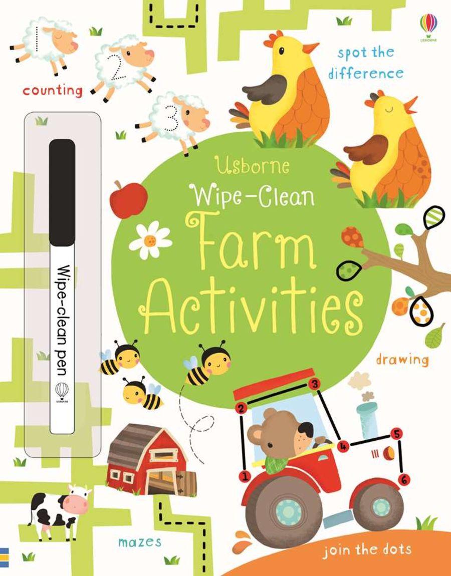 Wipe Clean Farm Activities Book