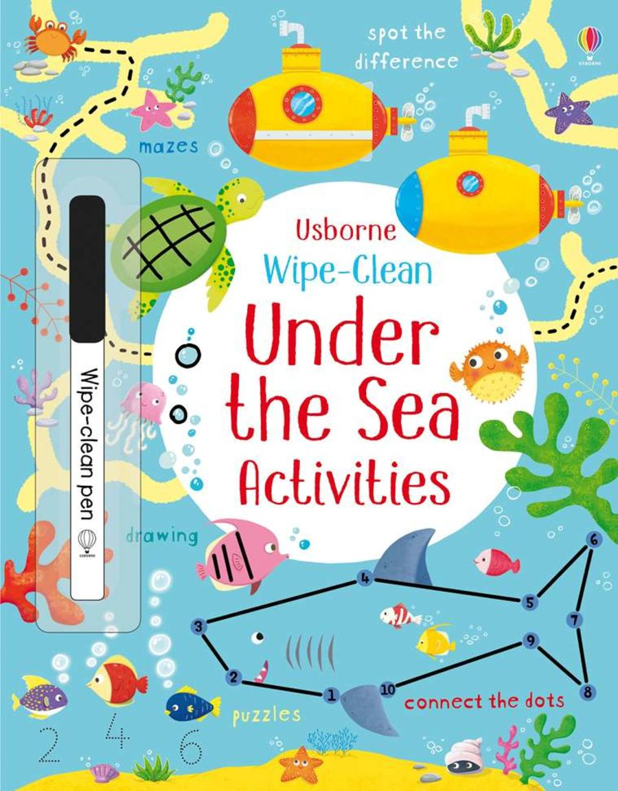 Wipe Clean Under the Sea Activities Book