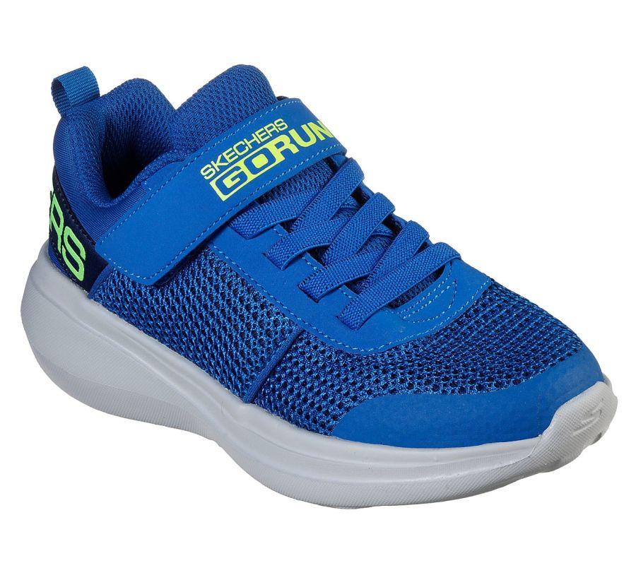 Skechers Go Run Tharo Blue/Lime Trainers