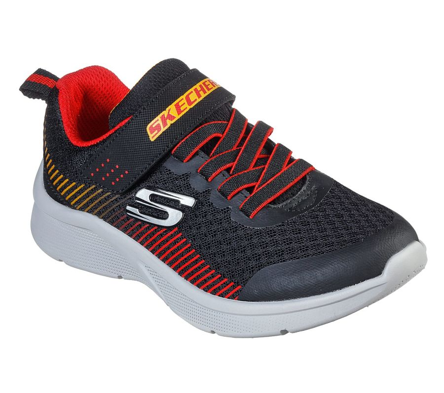 Skechers Microspec Gorza Black/Red Trainers