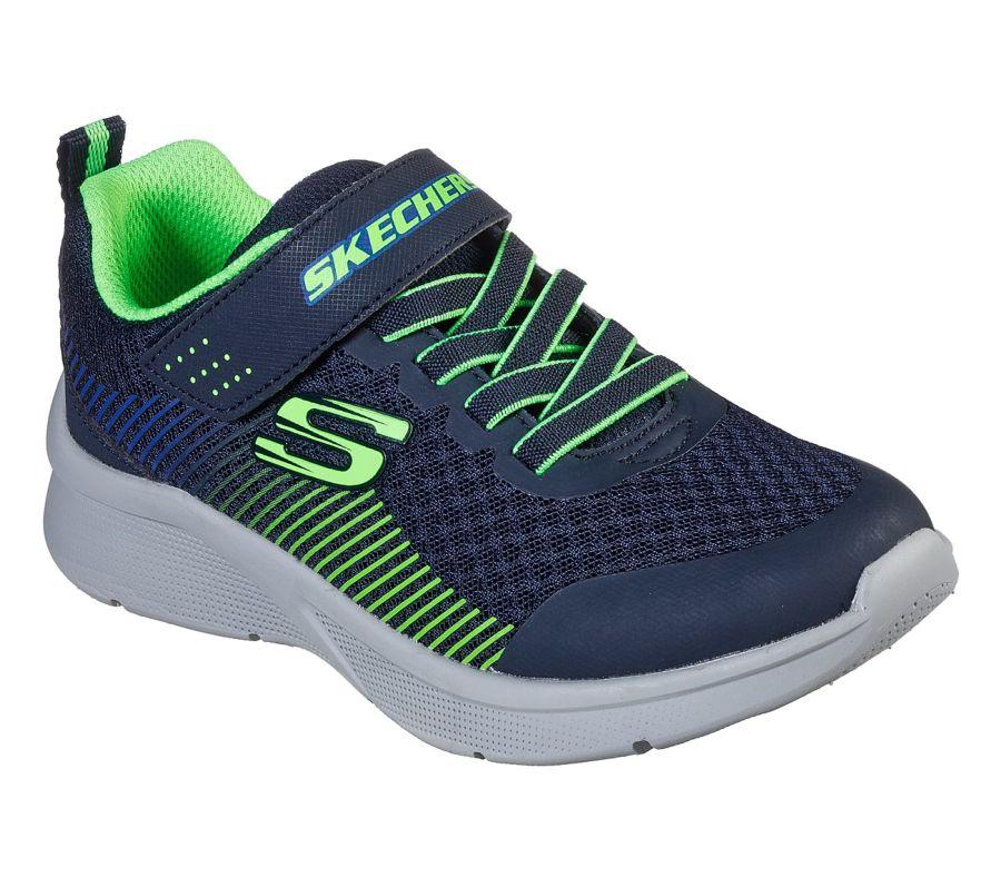 Skechers Microspec Gorza Navy/Lime Trainers