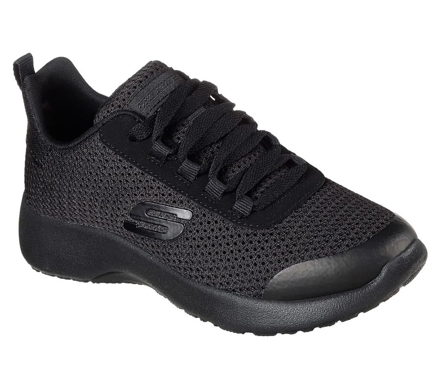 Skechers Dynamight Black Turbo Dash Trainers