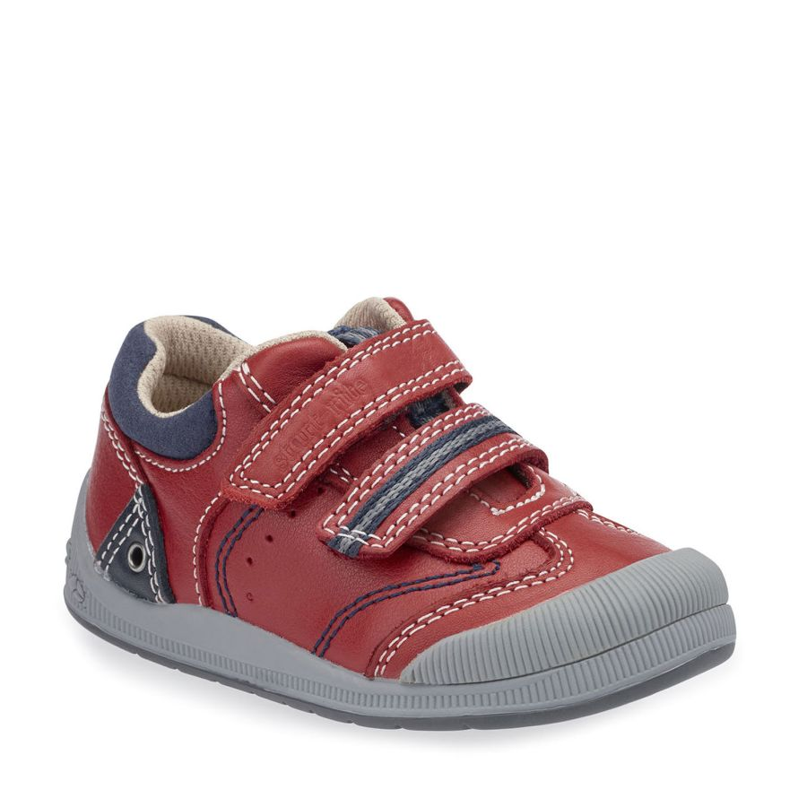 Tough Bug Red Leather Shoes