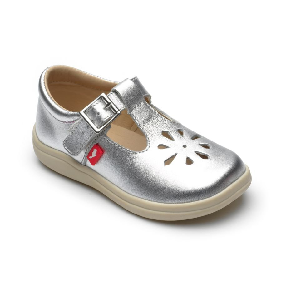 Trixie Silver Buckle Shoes