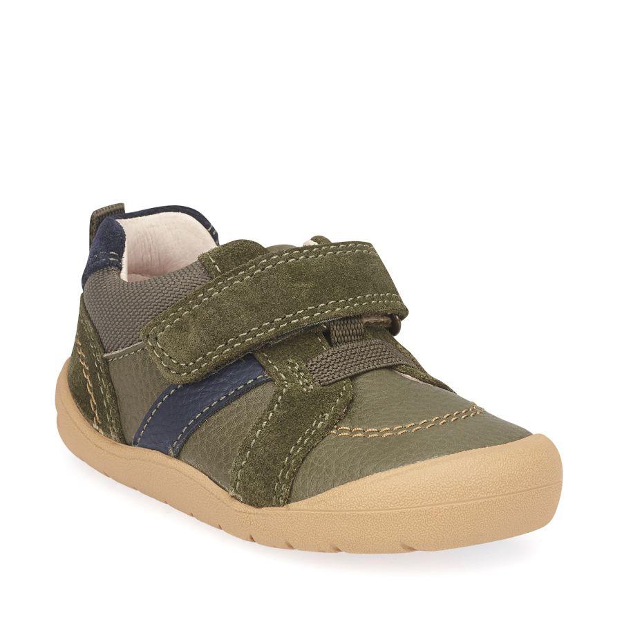 Twist Khaki Leather/Suede Shoes