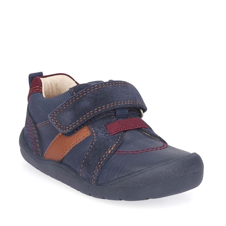 Twist Navy Blue Leather/Suede Shoes