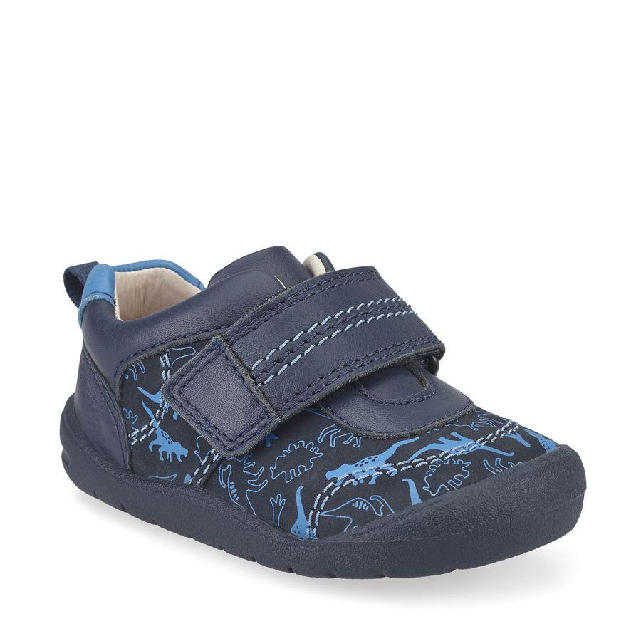 Footprint Navy Blue Dino Shoe
