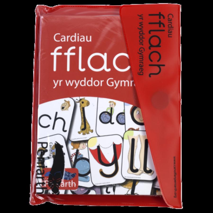 Cardiau Fflach yr Wyddor Gymraeg Tric a Chlic