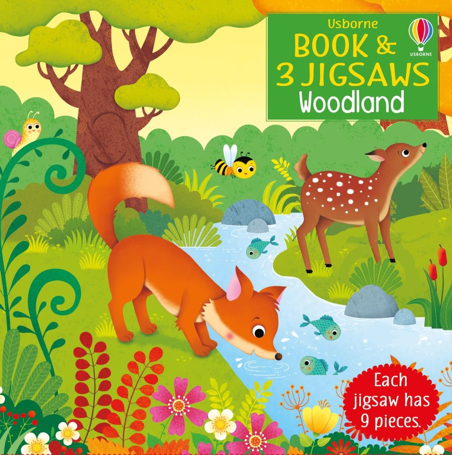 Woodland Book and 3 Jigsaws