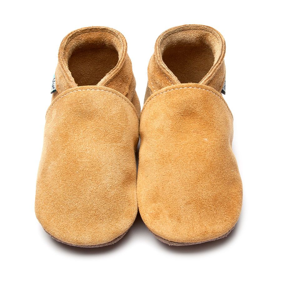 Plain Tan Suede Shoe Slippers