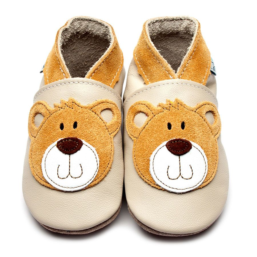 Teddy Cream Leather Shoe Slippers