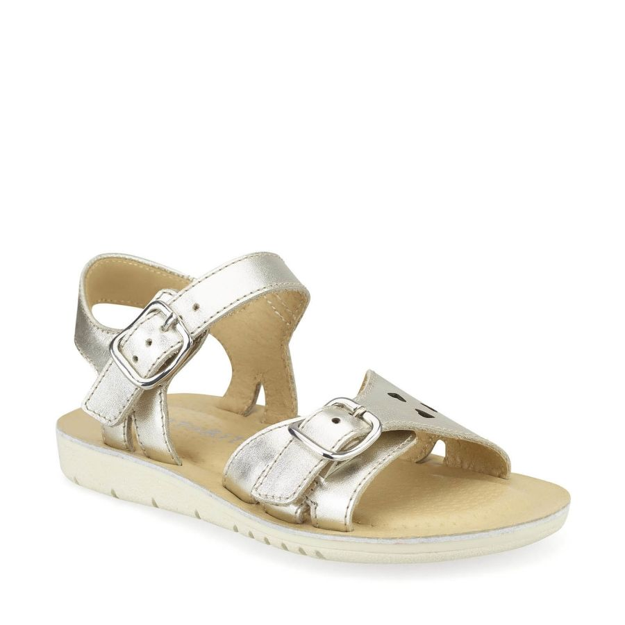 Enchant Silver Leather Sandal